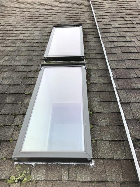 Groton, CT - Measuring for a skylight replacement in Groton CT. Will replace using New Velux skylights