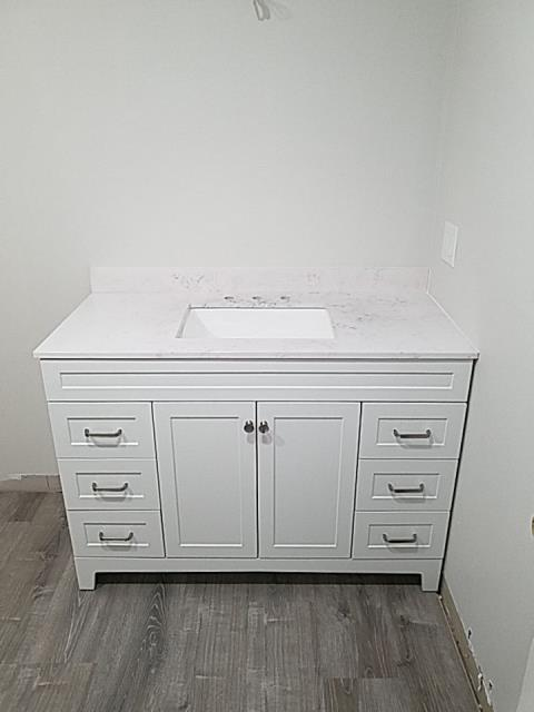 Westerly, RI - New vanity installed today in Westerly RI bathroom renovation.
