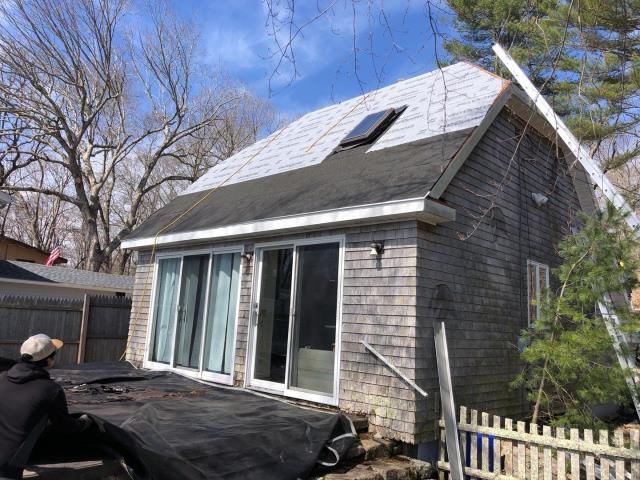 Exeter, RI - This roof is all prepped and ready for the GAF Timberline shingles to be installed. Two rows of ice & Water sheild installed to meet code and GAF synthetic paper installed as part of the GAF Golden Pledge Roof warranty !