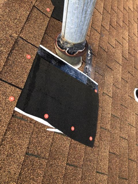 Narragansett, RI - Roof repair in Narragansett RI. These roof shingles blew off after the high winds. Roof damage is many times covered by homeowners insurance. JHC will work with your insurance company to get new roof covered in many situations.