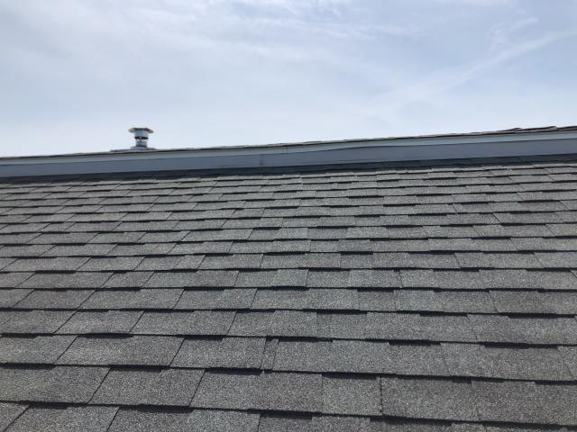 South Kingstown, RI - This roof in South Kingstown RI is having ventilation issues. This insulated roof is not getting any fresh air inside the roof system.Vented drip edge or GAF intake pro may be installed to get air inside safely