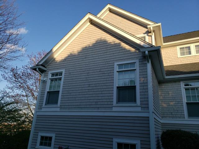 Narragansett, RI - Installed new white aluminum seamless gutters in Narragansett RI Today.