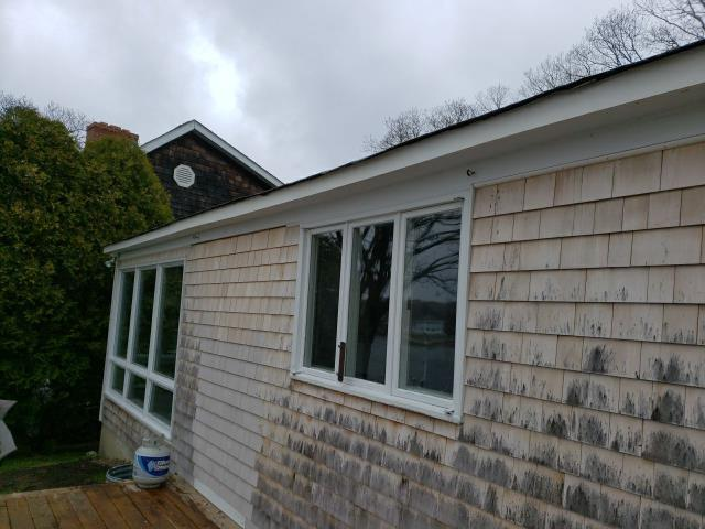 Narragansett, RI - Replaced old wood with peeling paint, Installed new PVC trim