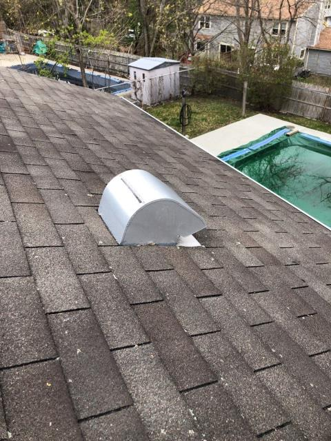 East Greenwich, RI - Another Roof inspection in East Greenwich RI today. This three tab shingled roof is leaking and has missing shingles from the high winds. A full roof replacement using GAF Timberline shingles will take care of any roof issues.