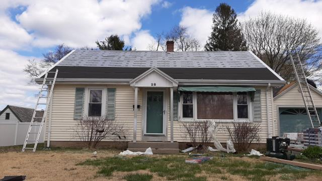 Stonington, CT - This roof in Pawcatuck Ct is prepped and ready for the GAF Timberline HDZ roof shingles to be installed. This roof will have a full system plus warranty backed by GAF! The largest roofing manufacture in the world!