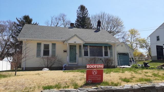 Stonington, CT - This roof replacement in Pawcatuck Ct is done! New GAF Tmberline HDZ shingles installed color Pewter Grey