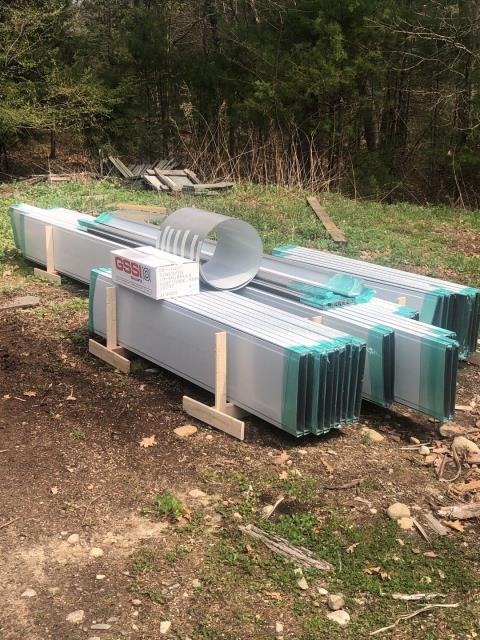Glasgo, CT - Another delivery of Dreel standing seam Metal Roofing delivered and ready to be installed in Voluntown CT.