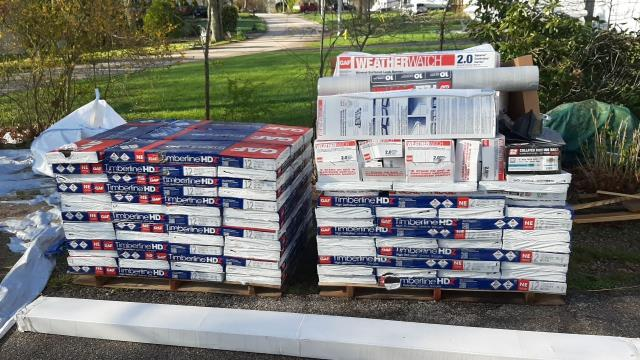 Narragansett, RI - All of our GAF Material is On site in narragansett RI and ready to be installed!
