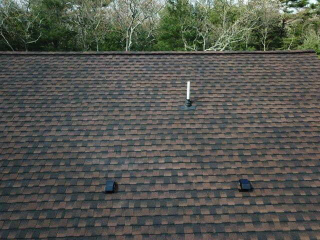 Charlestown, RI - Ultimate pipe boot was installed on this roof replacement in Charlestown RI. New GAF Timberline ULTRA shingles installed. Golden Pledge warranty