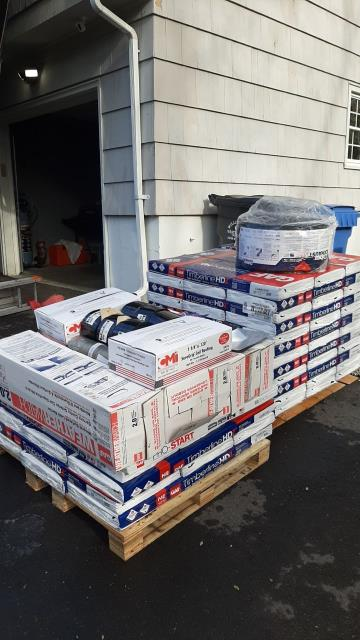 Ledyard, CT - All the GAF material is on site and ready to be installed in Ledyard CT today. Full roof replacement