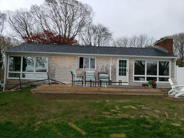 Narragansett, RI - Installed new Seamless white aluminum gutters today in Narragansett RI.