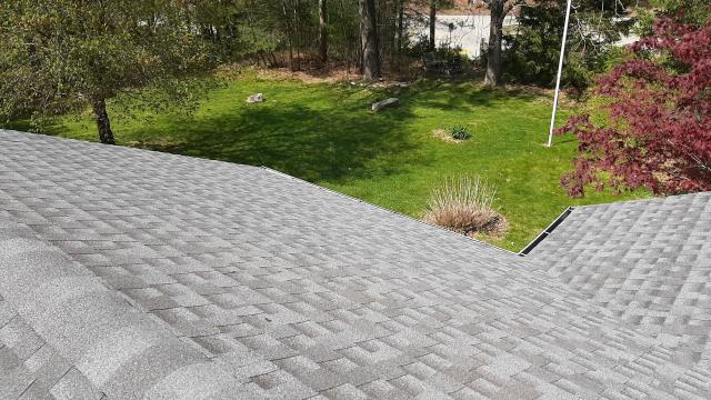 Voluntown, CT - View of this completed GAF Roof replacement project in voluntown CT. New GAF Timberline shingles look GREAT!
