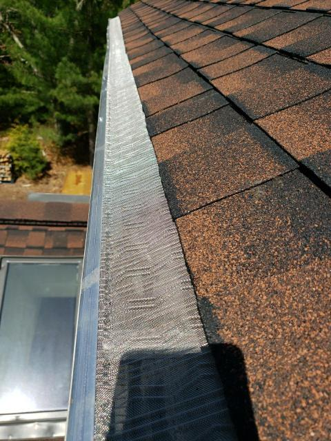 Charlestown, RI - Installed new stainless steel gutter guards on this house in charlestown ri