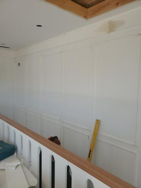 Westerly, RI - Interior trim being installed in Westerly RI on this commercial building at the Weekapuag INN