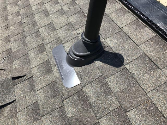 Salem, CT - Ultimate pipe boot installed on a recent roof replacement in Salem Ct. Lifetime warranty