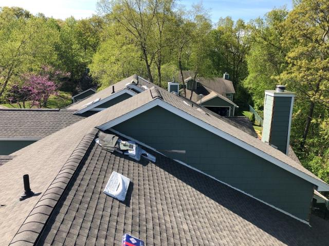Groton, CT - Another roof replacement about to be completed in Groton CT. Full roof replacement on a multi unit condo association using all top of the line GAF Roofing products.