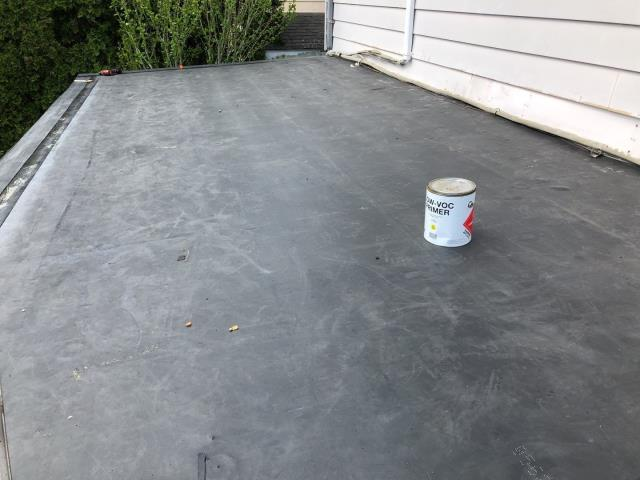 New London, CT - This roof section was just completed. Removed old flat roof and installed new EPDM roof system in New London CT