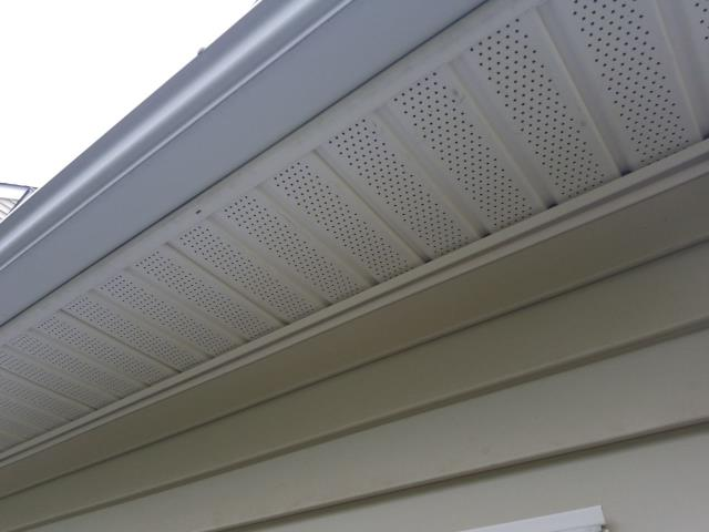 Westerly, RI - As part of our roof inspection we always check for proper ventilation. This roof in Westerly RI is showing signs of premature granular loss even though there is good soffit vents.