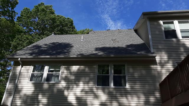 Voluntown, CT - Crew is making progress on this roof replacement in Voluntown CT. New GAF Roof system being installed. Golden pledge warranty, best warranty in roofing!