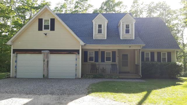 Voluntown, CT - This roof in Voluntown was completly replaced today. New roof in one day! GAF Timberline HDZ shingles used and all GAF Accessories were used. Golden Pledge warranty. Color is pewter grey.