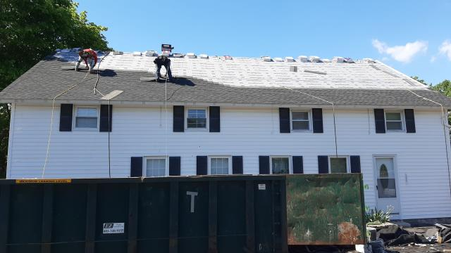 Richmond, RI - GAF Timberline shingles are being installed by our GAF Trained installers. This roof will be completed today.