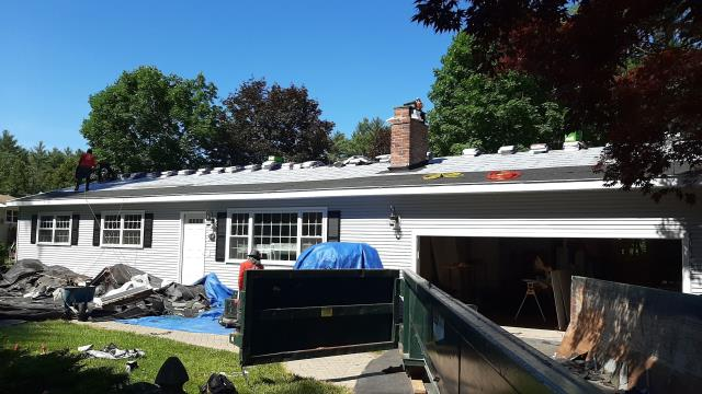 Hopkinton, RI - Roof has all the GAF accessories installed and is ready for the Timberline shingles next!Golden Pledge Warranty. Best roofing warranty on  the market