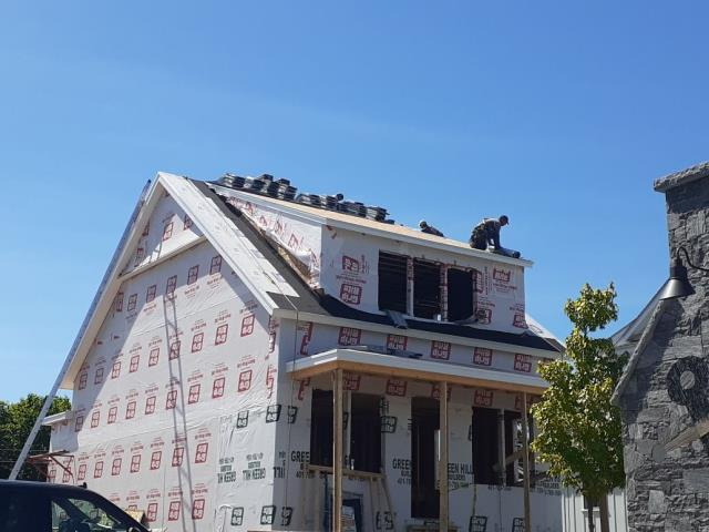 East Greenwich, RI - New construction roof being done today in East Greenwich RI.