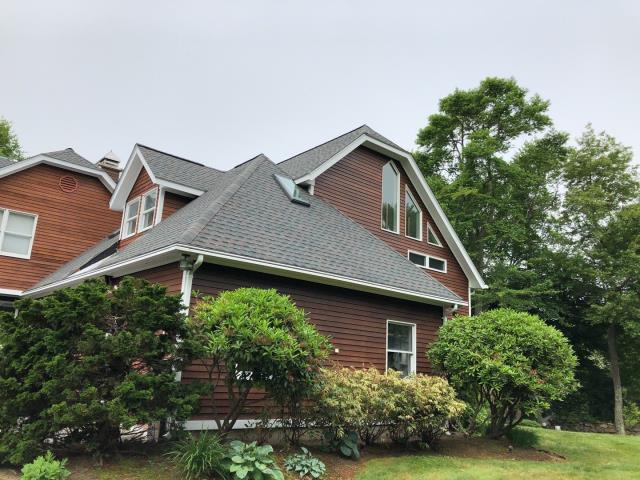 Narragansett, RI - This full roof replacement project is on to phase two, Time to install the Standing seam metal roofing. All the GAF timberline HDZ roof shingles are installed.