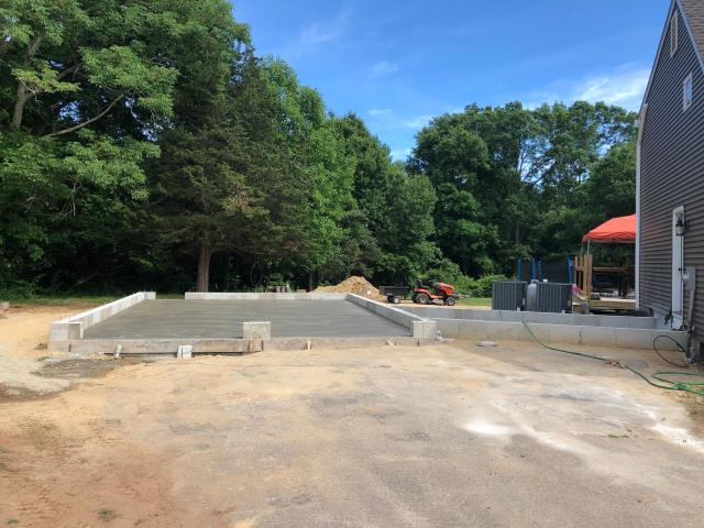 Preston, CT - Foundation is ready for the framers to start on this new Garage in Preston CT.. Concrete floor was poured today.