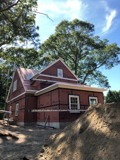 North Kingstown, RI - On site in North Kingstown RI measuring this new construction project for its new roof system. All the AZEK Trim is installed and ready for the roofing crew!