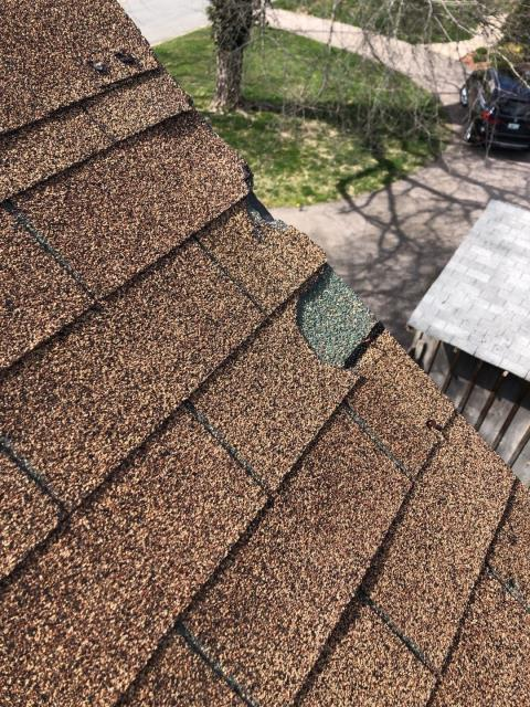 Narragansett, RI - Wind damaged roof in Charlestown RI. Missing shingles. Storm damage. Time for a new roof.