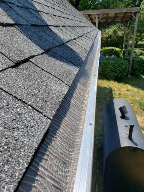 Stonington, CT - Installed new stainless steel gutter guards and seamless gutters in pawcatuck CT