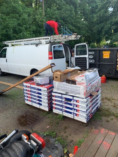 Plainfield, CT - Roofers are on site this morning in Plainfield CT getting ready for another Quality roof installation with a great warranty! GAF Roof system to be installed.