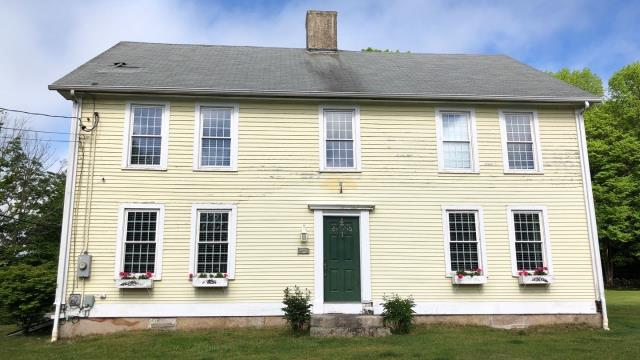 Griswold, CT - Here is a Full exterior remodeling project we are about to start in Griswold CT. All new Harvey Vinyl replacement windows and exterior doors will be replaced along with new Vinyl siding and a Full roof replacement using GAF Timberline shingles. New custom AZEK corner boards will be made to match the farmhouse style.