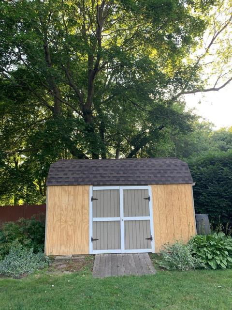Stonington, CT - Can't forget the shed! New roof installed on this shed in Pawcatuck CT.
