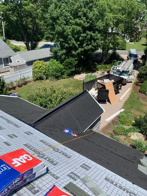 Charlestown, RI - Great view of this roof prepped with all GAF Accessories. Ready to install the new GAF Timberline HDZ shingles!