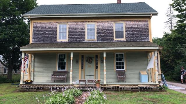 Charlestown, RI - Window replacement project in Charlestown RI is making progress today installing New Harvey Replacement windows.