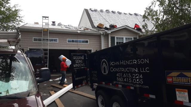 Narragansett, RI - This roof in Narragansett RI is ready for the new GAF TIMBERLINE shingles to get installed. All the GAF Accessories have been installed.Golden pledge warranty