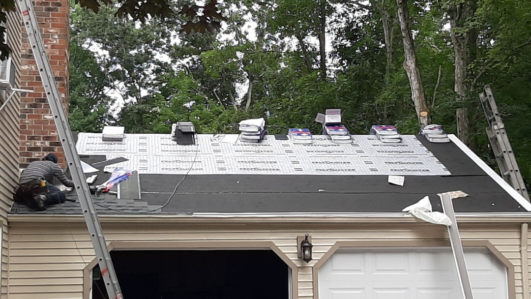 East Lyme, CT - House is prepped and wrapped with GAF accessories. Time to shingle.