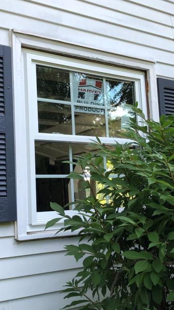 Westerly, RI - Replacement windows westerly RI. Installing new Harvey vinyl replacement windows.