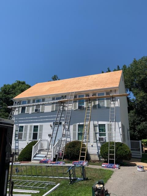 Westerly, RI - Full roof replacement in Westerly RI is underway! The old roof shingles have been removed and now the new GAF timberline HDZ shingles will be installed along with the GAF Accessories.