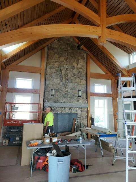 Westerly, RI - Here is an example of some of the post & Beam work on this new construction project in Westerly RI.