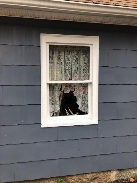 Charlestown, RI - Measuring for Replacement windows in Charlestown RI. New Harvey or Anderson windows will be installed.