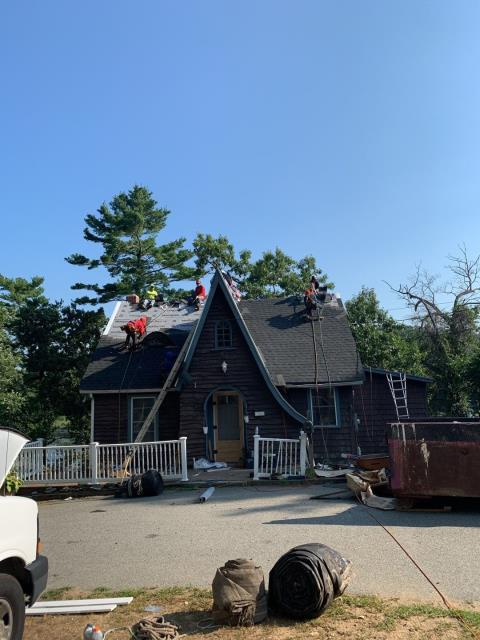 Griswold, CT - This GAF Roof replacement project in Griswold Ct is just about completed! New roof in One day with a great 50 year warranty!