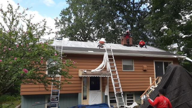 Hopkinton, RI - This roof is in progress today in Hopkinton RI. All GAF accessories are being installed as part of a golden pledge warranty. Ultimate Pipe flashings being installed. GAF Timberline HDZ shingles.