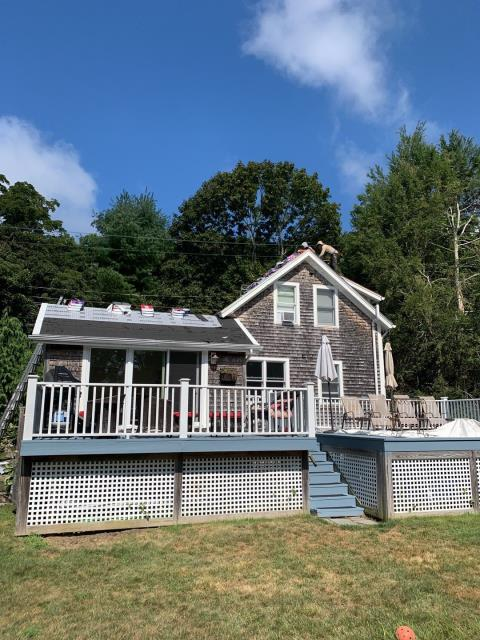 Stonington, CT - Our roofers in Mystic Ct have removed the old roof shingles on this home and installed the GAF Accessories. Two rows of ice & Water and GAF Feltbuster synthetic paper were installed. GAF Timberline HDZ shingles will be installed next