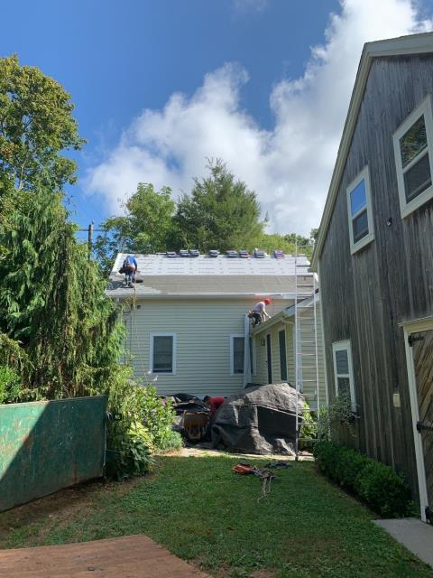 Stonington, CT - Our roofers in Mystic CT are installing a new GAF Roof system on this coastal home. GAF Timberline HDZ shingles have a unlimited wind protection! 50 Year roof warranty! 0% Financing available!