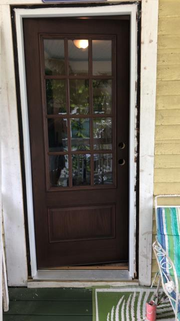 Griswold, CT - Installing a new entry door in Griswold Ct today