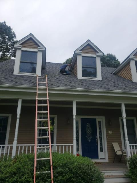 Stonington, CT - Siding and exterior trim is being repaired in Stonington Ct for a repeat customer