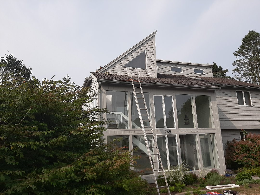 South Kingstown, RI - Working in South Kingstown today. We're removing old skylights and installing new Velux skylights. These units come with a no leak promise from velux and a 10 year hail breakage warranty.